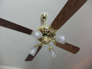 Painting ceiling fan blades